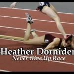 女子陸上で競技中に転倒してしまった一人の選手、奇跡の逆転劇に会場大熱狂!